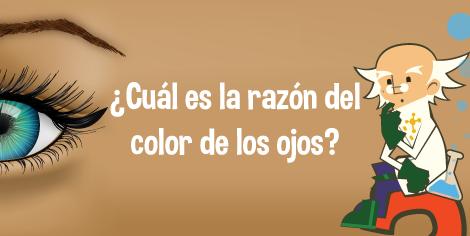 ¿Cuál es la razón del color de los ojos?